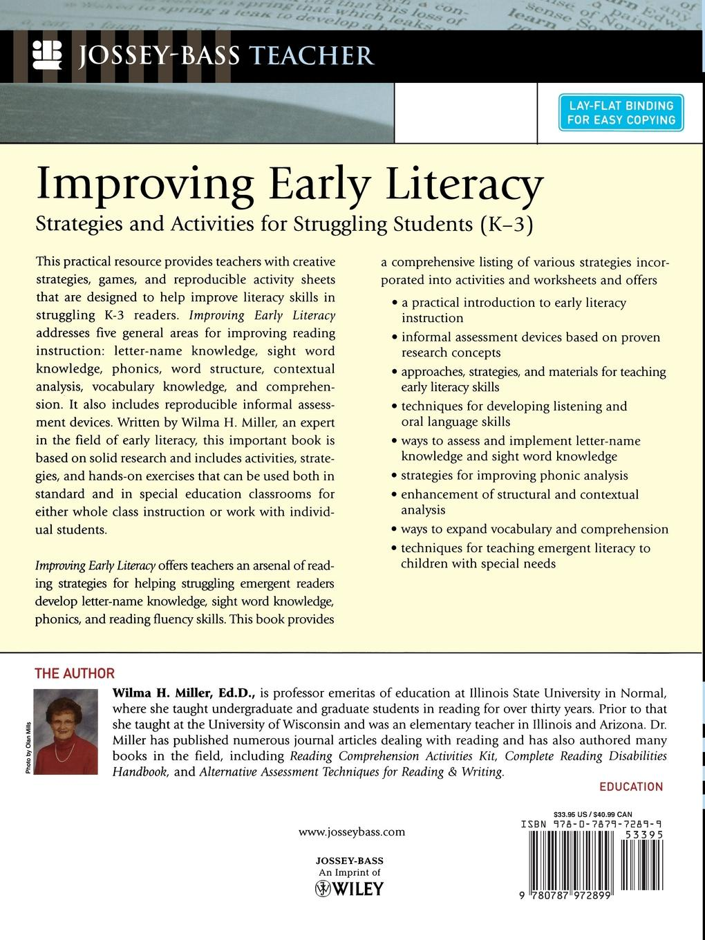 цена на Wilma H. Miller Improving Early Literacy. Strategies and Activities for Struggling Students (K-3)