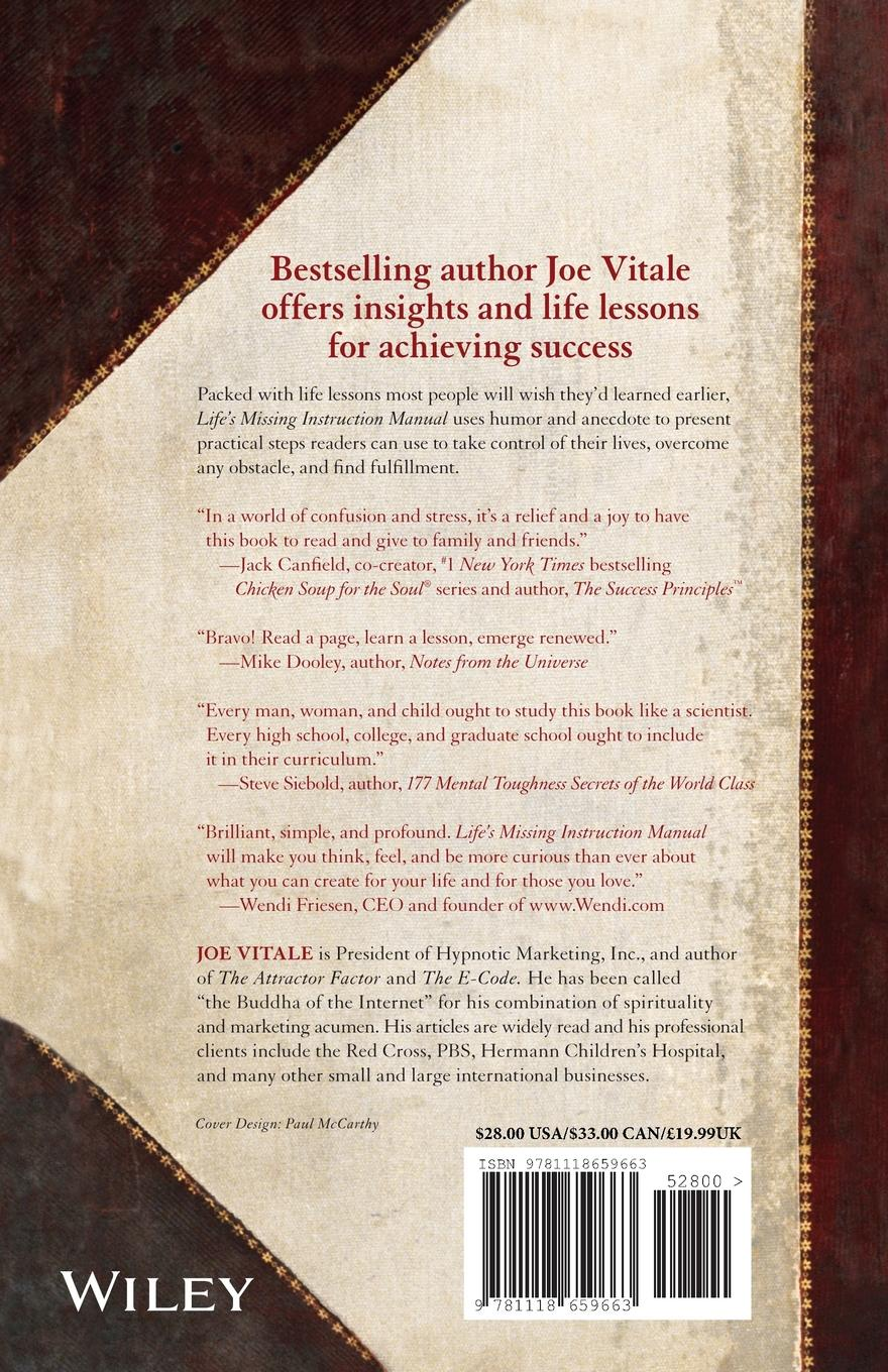 Фото - Vitale, Joe Vitale Life's Missing Instruction Manual. The Guidebook You Should Have Been Given at Birth joe vitale the key the missing secret for attracting anything you want