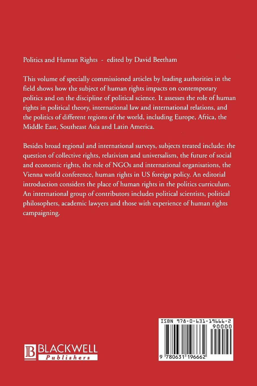 Beetham Politics and Human Rights daniel levy natan sznaider human rights and memory