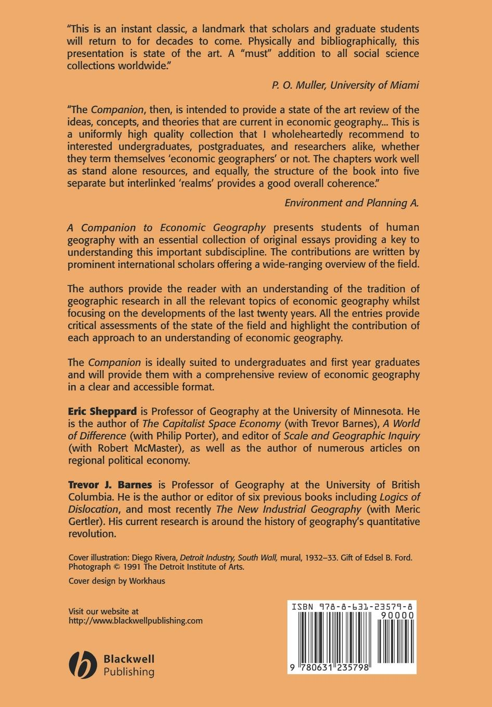 Sheppard, Barnes Companion to Economic Geography economic geography