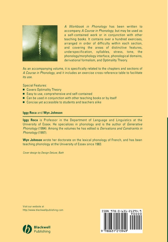 Roca, Johnson Workbook Phonology mehmet yavas applied english phonology