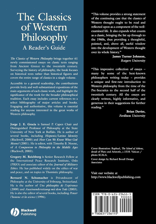 Gracia, Reichberg, Schumacher Classics Western Philosophy ten neglected classics of philosophy