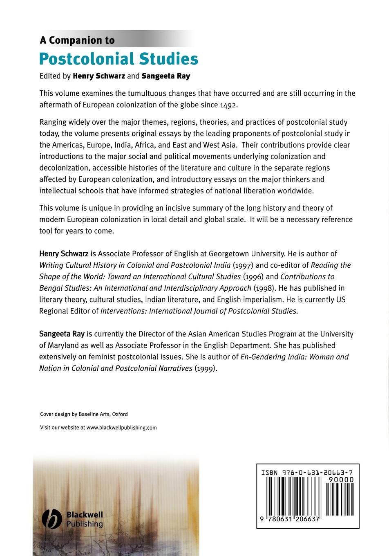 лучшая цена Schwarz, Ray Companion to Postcolonial Studies