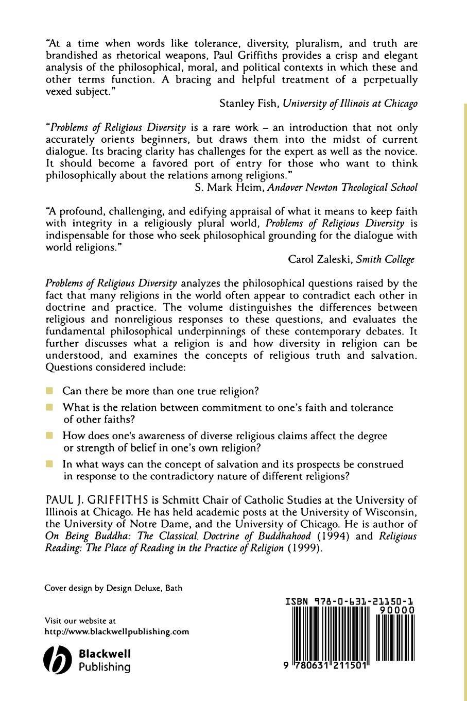 Griffiths Problems of Religious Diversity algal diversity