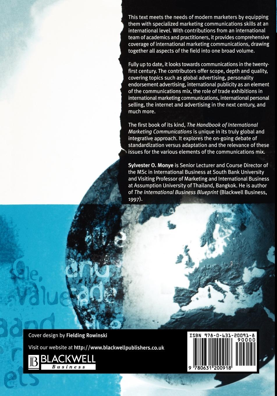 Monye The Handbook of International Marketing Communications hong cheng the handbook of international advertising research