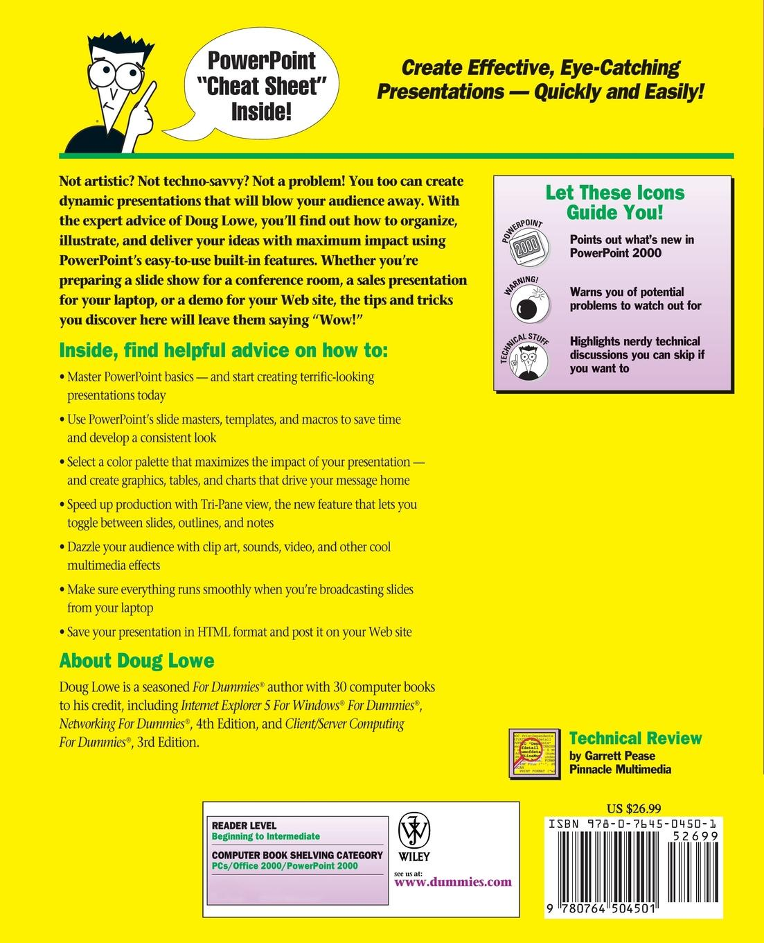 Lowe PowerPoint 2000 For Dummies doug lowe powerpoint 2010 for dummies
