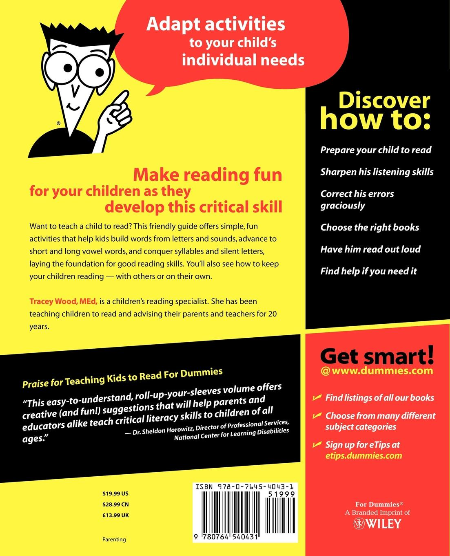 Wood Teach Kids to Read For Dummies brendan scott python for kids for dummies