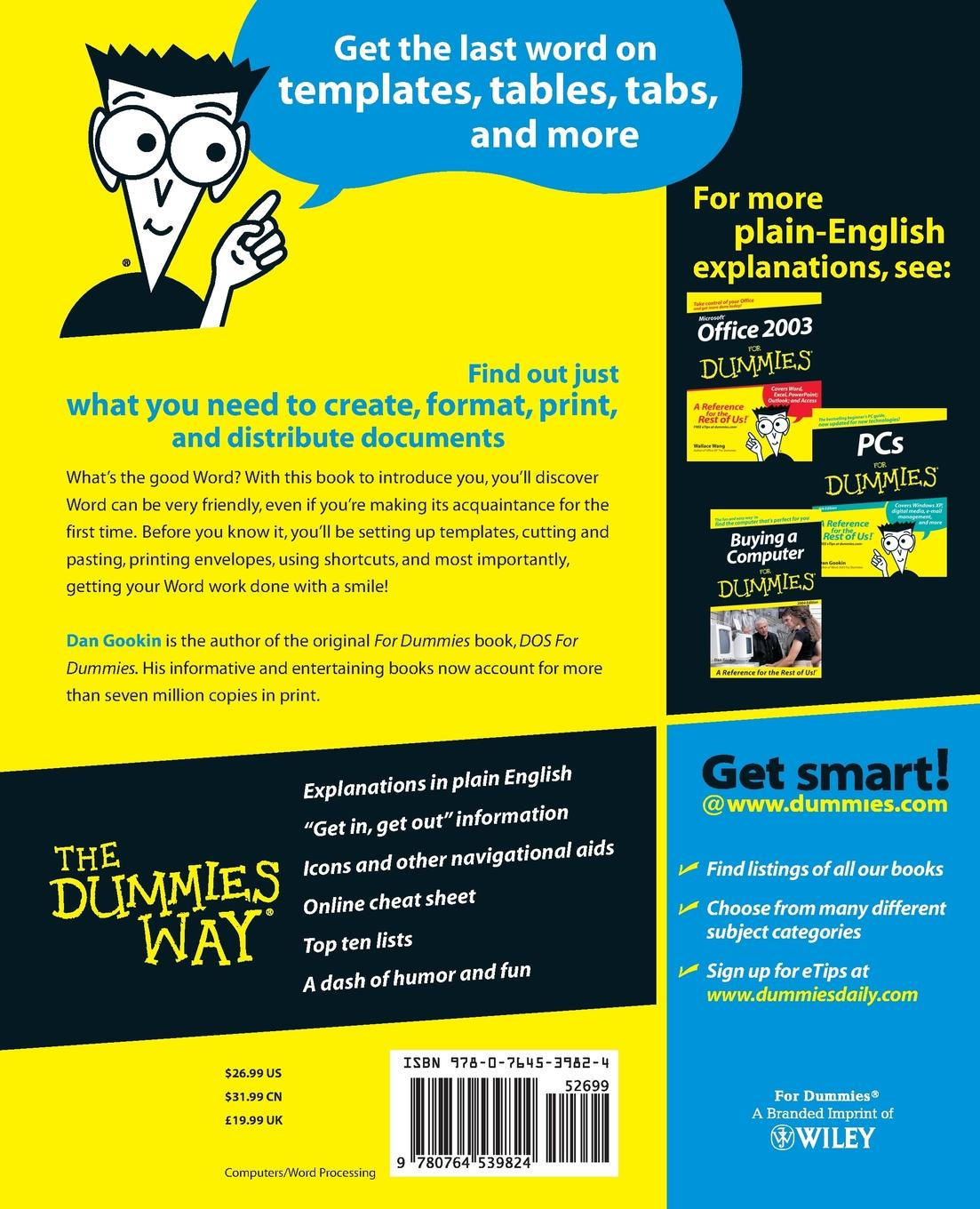 Фото - Dan Gookin Word 2003 for Dummies dan gookin word 2007 for dummies