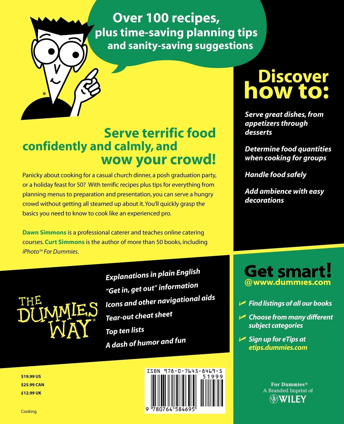 Simmons Cooking for Crowds For Dummies mark lafay drones for dummies