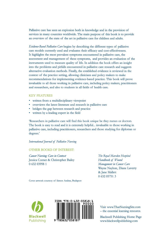 Abu-Saad Evidence-Based Palliative Care evidence based periodontology