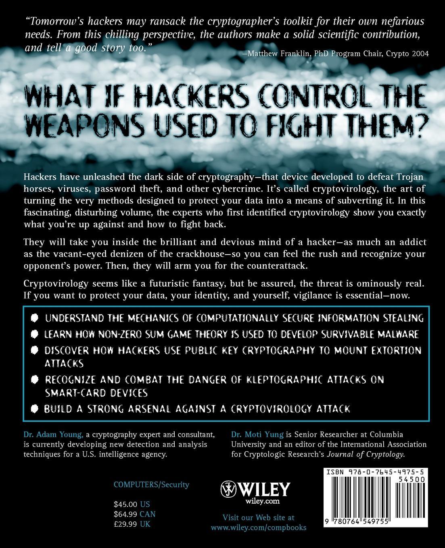 Adam Young, Moti Yung, Robert Young Malicious Cryptography. Exposing Cryptovirology
