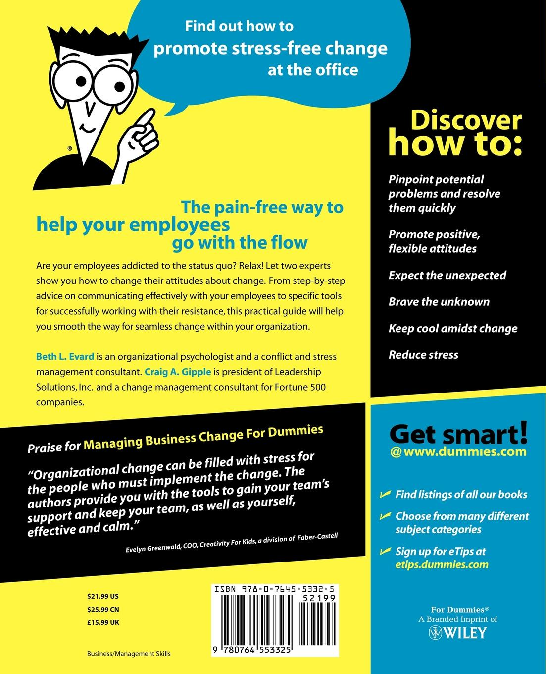 Beth L. Evard, Craig A. Gipple, Evard Managing Business Change for Dummies richard pettinger business studies for dummies