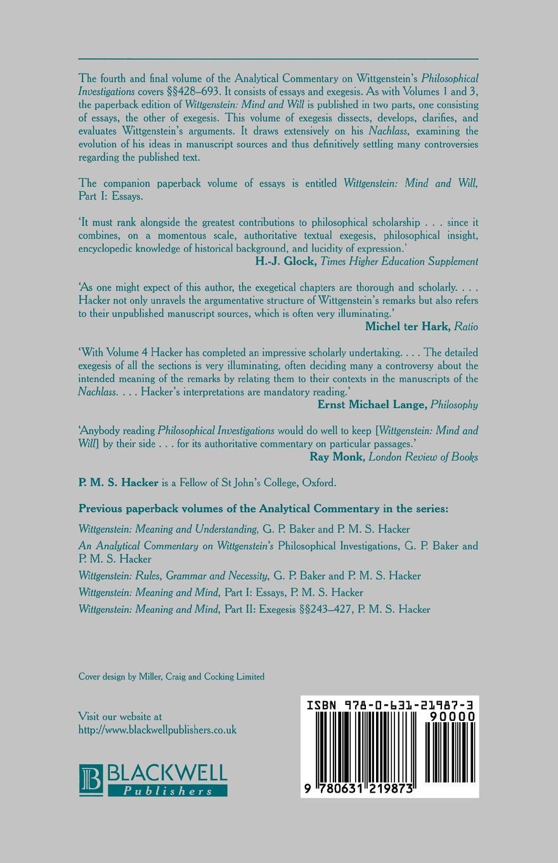 HACKER Wittgenstein Mind and Will V4 Pt 2 цена в Москве и Питере