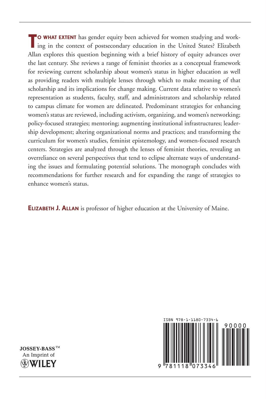 Aehe, Elizabeth J. Allan, Allan Women's Status in Higher Ed Ae цена в Москве и Питере