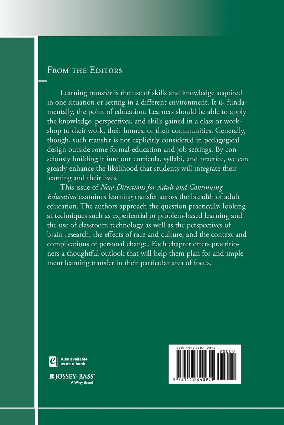 ACE Learning Transfer in Adult Edu