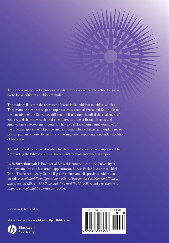 Sugirtharajah Postcolonial Biblical Read