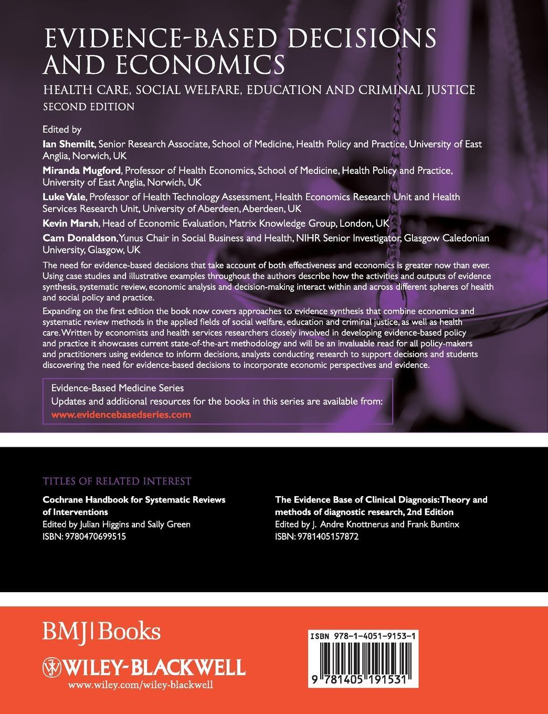 Shemilt, Donaldson, Marsh Evidence-Based Decisions Econo evidence based periodontology