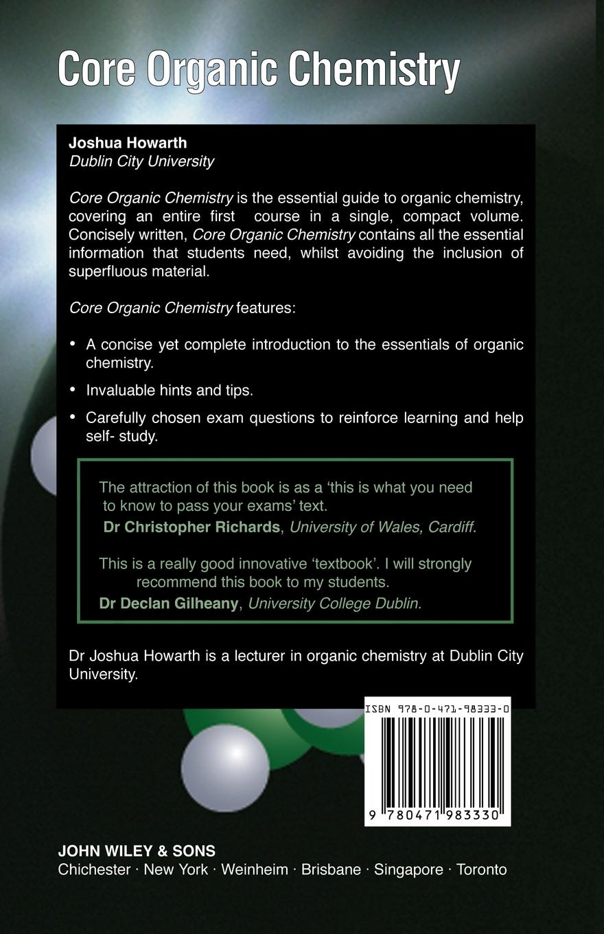 Howarth Core Organic Chemistry arthur winter organic chemistry i for dummies