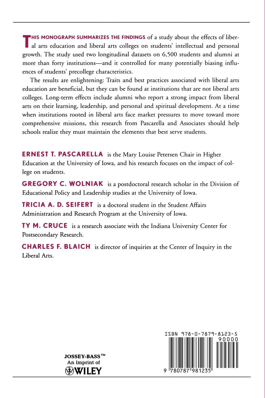 Ernest T. Pascarella, Gregory C. Wolniak, Ty M. Cruce Liberal Arts Colleges and Liberal Arts Education. New Evidence on Impacts, Number 3 фата jewelry arts and liberal arts 0661