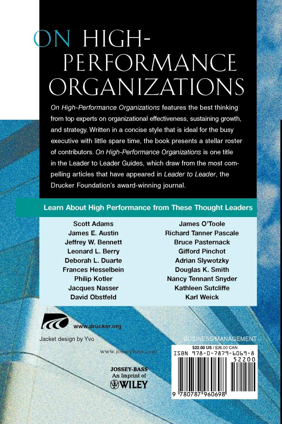 Фото - Foundat Drucker Foundat, Hesselbein, Rob Johnston On High Performance Organizations. A Leader to Leader Guide frances institute hesselbein leadership leader to leader ltl volume 70 fall 2013