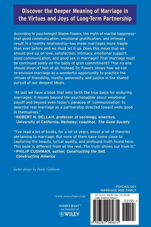 Blaine J. Fowers, Fowers Myth Marital Happiness c j culpepper getting her happiness