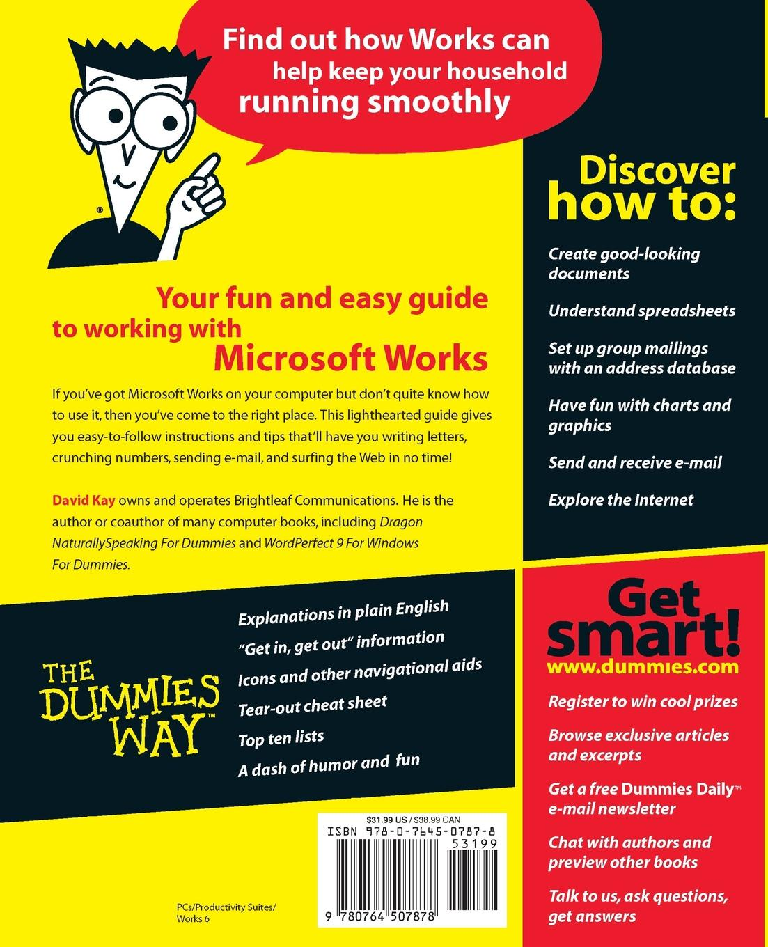 David Kay, Jerald Ed. Kay Microsoft Works 6 for Windows for Dummies david ciccarelli voice acting for dummies