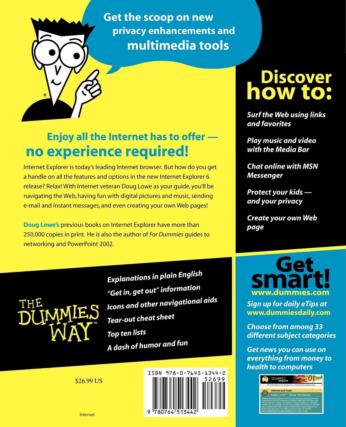 Doug Lowe, Ric Lowe Internet Explorer 6 for Dummies