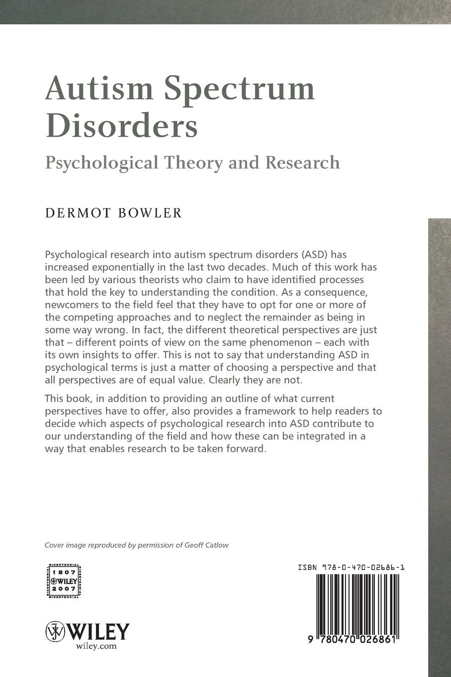 Bowler Autism Spectrum Disorders ventola pamela e essentials of autism spectrum disorders evaluation and assessment