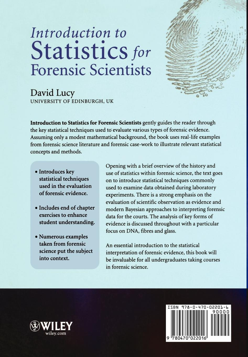 Lucy Intro Statistics for Forensic Scientists schuenemeyer john statistics for earth and environmental scientists