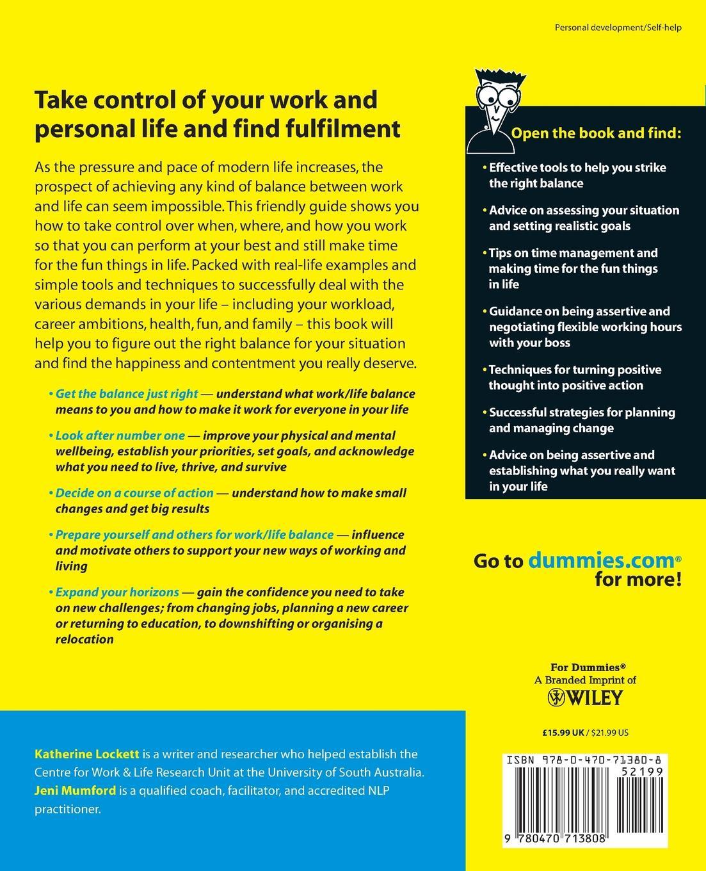 Mumford Work-Life Balance For Dummies elizabeth clark flirting for dummies