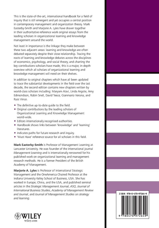 Easterby-Smith Handbook of Organizational Lea fred smith handbook of forensic drug analysis