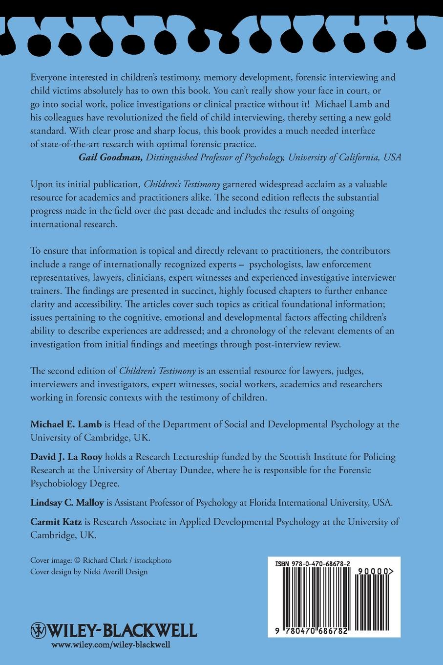 Children's Testimony. A Handbook of Psychological Research and Forensic Practice quality of life research and practice