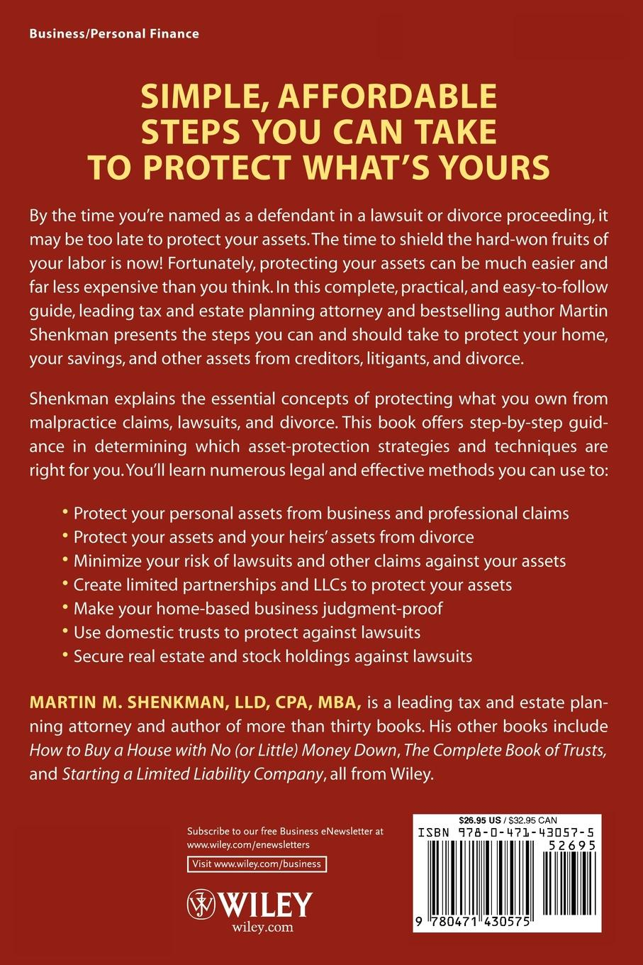 лучшая цена Martin M. Shenkman 6-Hour Guide to Protecting Your Assets. How to Protect Your Hard Earned Assets from Creditors and Claimants