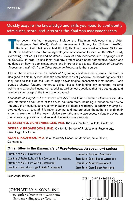 Lichtenberger, Broadbooks, Kaufman Tests Essentials