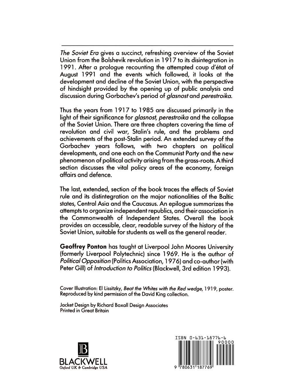 Geoffrey Ponton The Soviet Era. From Lenin to Yeltsin allen weinstein alexander vassiliev the haunted wood soviet espionage in america the stalin era