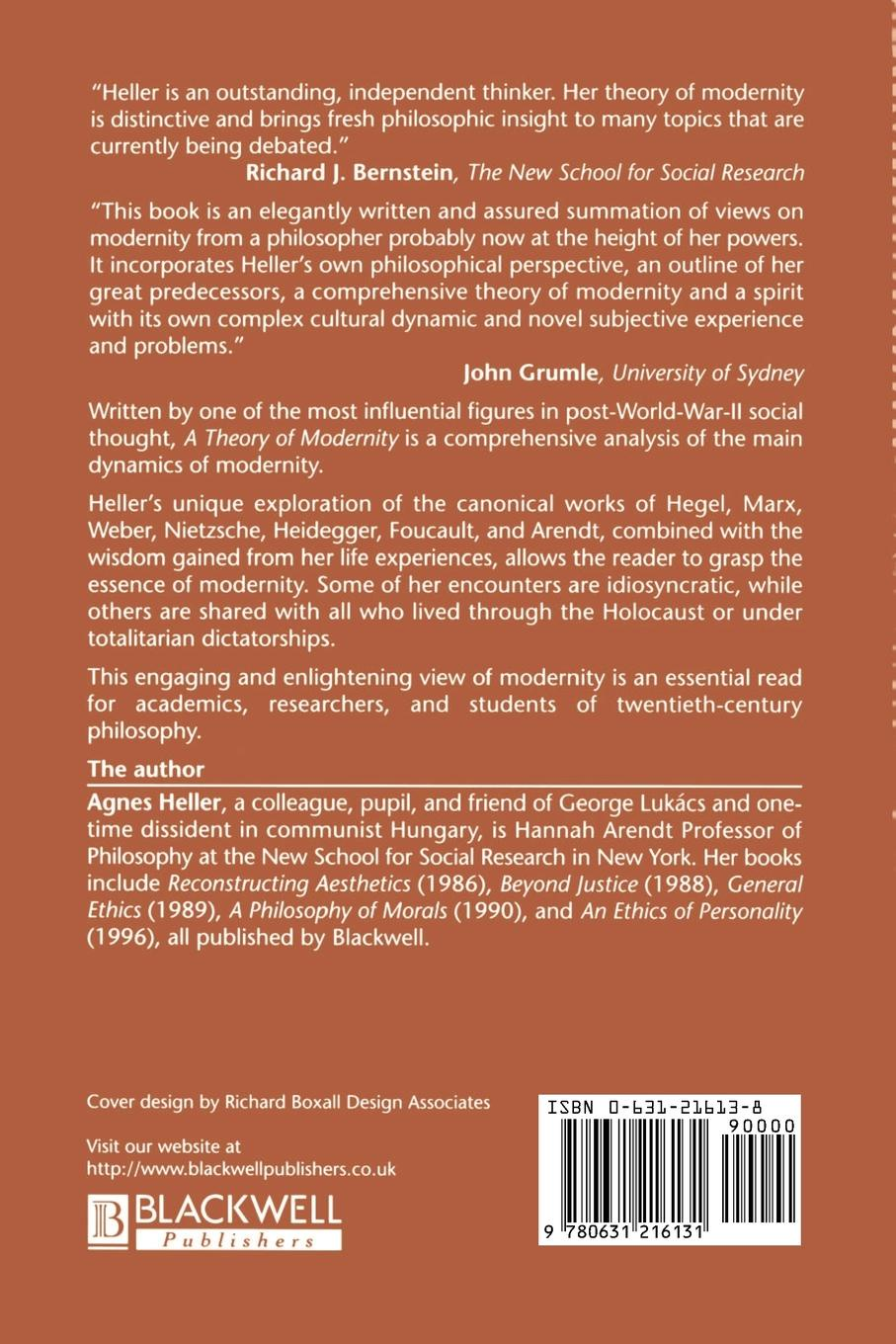 Agnes Heller A Theory of Modernity. Issues and Public Policy dhrubajyoti bhattacharya public health policy issues theories and advocacy