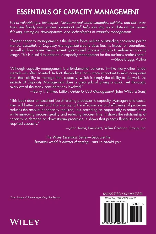 Yu-Lee Essentials Capacity reginald yu lee tomas essentials of capacity management