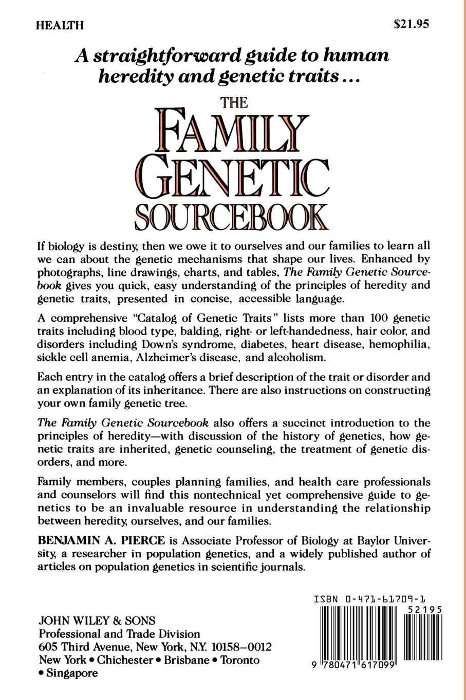 Benjamin Pierce The Family Genetic Sourcebook 1920s fashion the definitive sourcebook