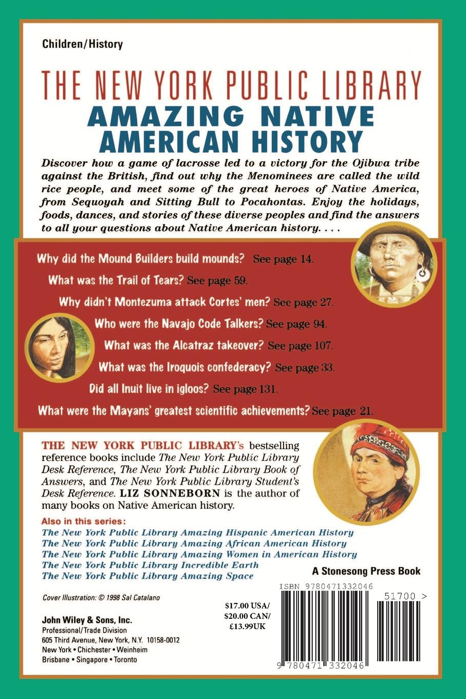 цена на Liz Sonneborn The New York Public Library Amazing Native American History. A Book of Answers for Kids