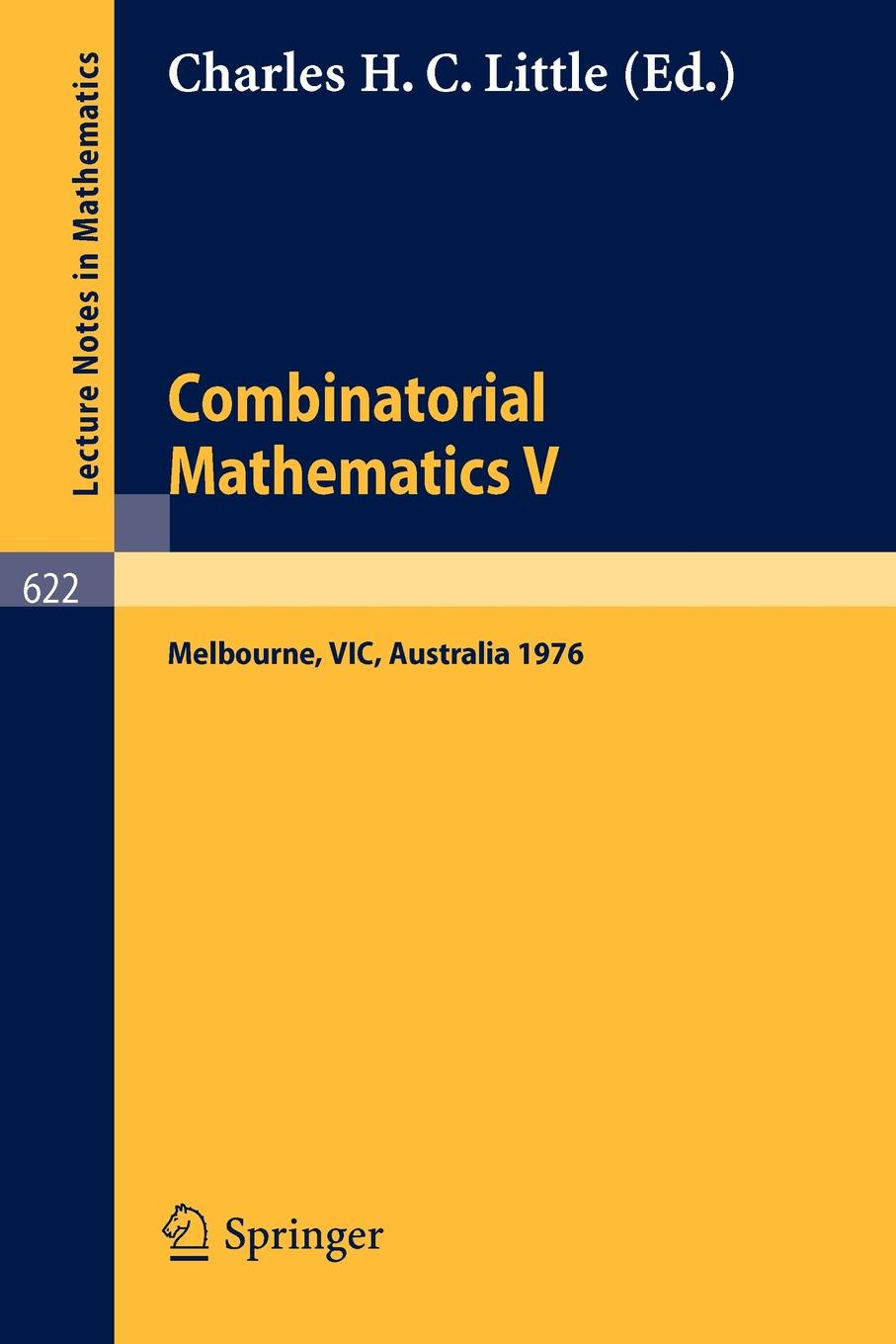 Combinatorial Mathematics V. Proceedings of the Fifth Australian Conference, Held at the Royal Melbourne Institute of Technology, August 24 - 26, 1 train melbourne