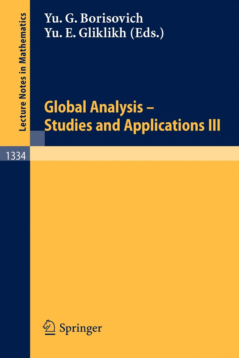 все цены на Global Analysis. Studies and Applications III онлайн