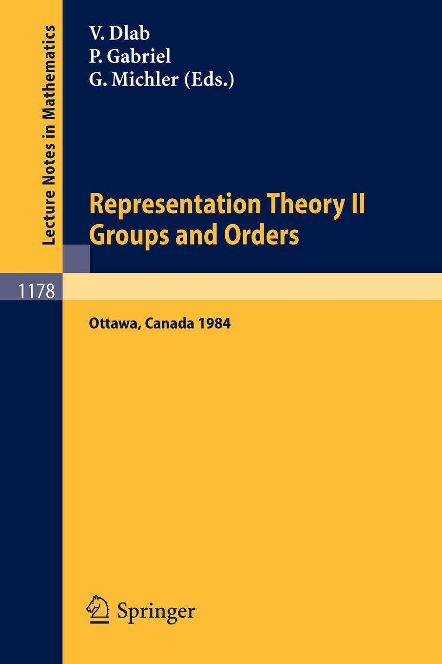 Representation Theory II. Proceedings of the Fourth International Conference on Representations of Algebras, held in Ottawa, Canada, August 16-25, 1984. Groups and Orders рычкова е сост история кружева история страны сборник научных статей конференции history of lace history of the country international scientific and practical conference proceedings
