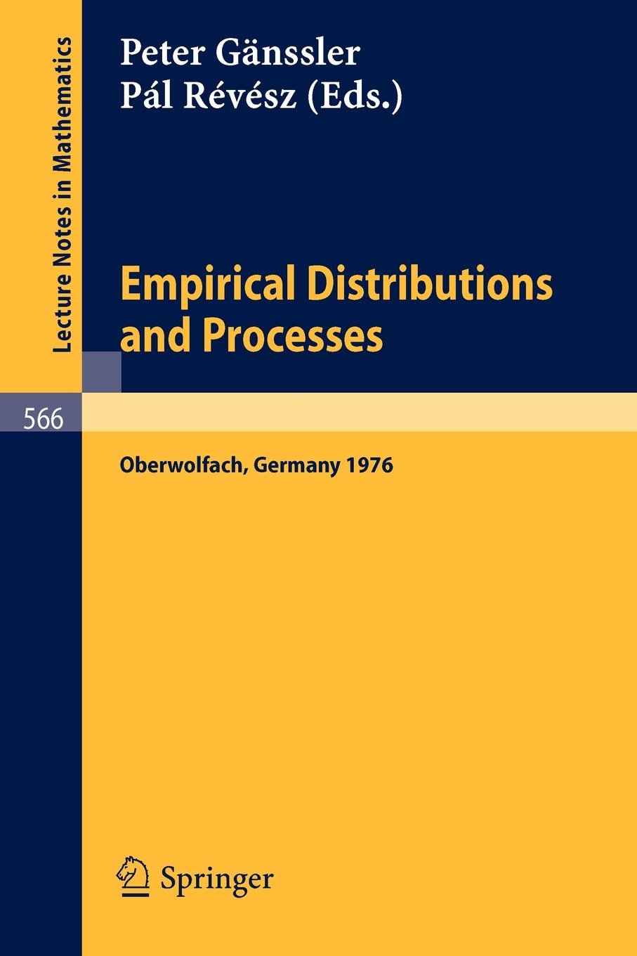 Empirical Distributions and Processes. Selected Papers from a Meeting at Oberwolfach, March 28 - April 3, 1976 charalambos charalambides a discrete q distributions