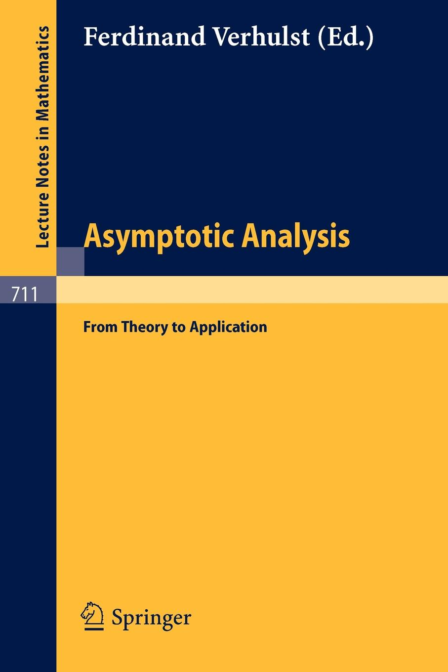 лучшая цена Asymptotic Analysis. From Theory to Application