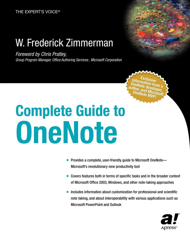 W. Fredrick Zimmerman Complete Guide to OneNote