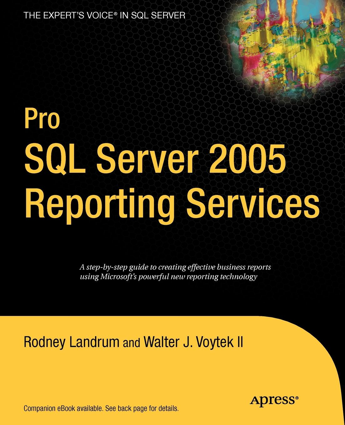 Rodney Landrum, Walter J. II Voytek Pro SQL Server 2005 Reporting Services rigoberto garcia foundations book ii understanding sql server 2005 supporting technology xml xslt xquery xpath ms schemas dtd s namespaces