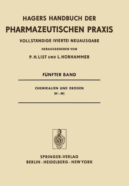 P. H. List, Ludwig Hörhammer Chemikalien und Drogen (H-M)