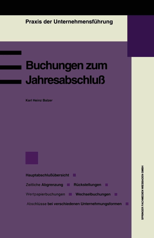 Karlheinz Balzer Buchungen Zum Jahresabschluss цена