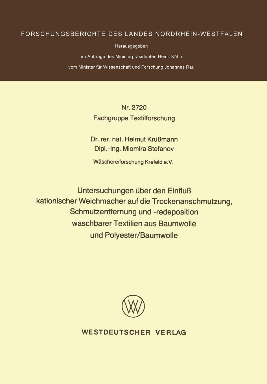 Helmut Krussmann Untersuchungen Uber Den Einfluss Kationischer Weichmacher Auf Die Trockenanschmutzung, Schmutzentfernung Und -Redeposition Waschbarer Textilien Aus Ba kathrin niederdorfer product placement ausgewahlte studien uber die wirkung auf den rezipienten