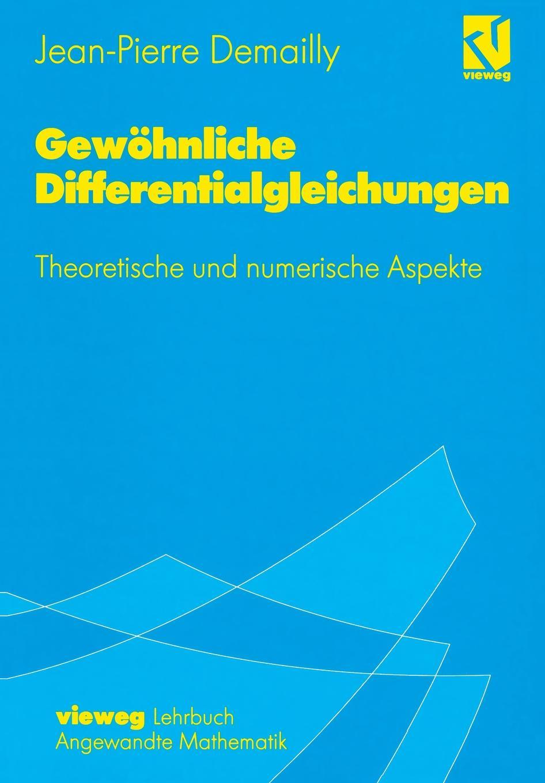 Jean-Pierre Demailly Gewohnliche Differentialgleichungen